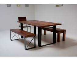 wood and iron dining room table bold modern reclaimed iron wood mt whitney dining table