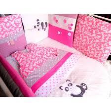 chambre bébé panda tour de lit gigoteuse fleurs pandas réalisés selon vos