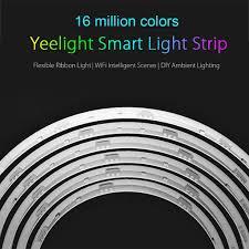 connecting led light strips xiaomi yeelight smart rgb led light strips wifi tape lights app