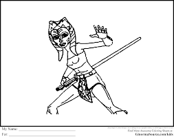 star wars coloring pages ahsoka tano coloring pages pinterest