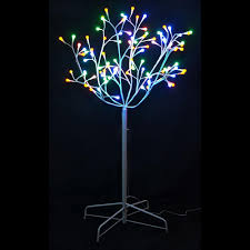 4 ft twig tree with white trunk and 95 led color changing