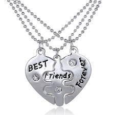 broken heart letters friend necklace 9 9 necklaces