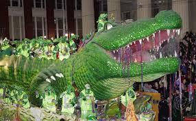 mardi gras alligator mardi gras inside a parade