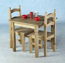 Pine Table Winsome Groveland 3pc Square Dining Table With 2 Chairs By Oj
