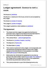 lodger agreement rent a spare room