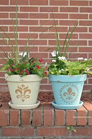 Painting Garden Pots Ideas Flower Pot Painting Idea About A