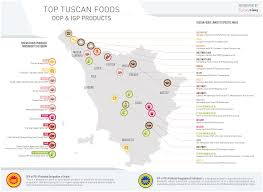 Tuscany Italy Map Top Tuscan Foods Dop And Igp Products