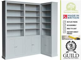 contemporary painted 8ft tall corner display library bookcase with
