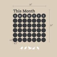 chalkboard daily dot calendar wall decal chalkboard daily dot calendar wall decal custom custom