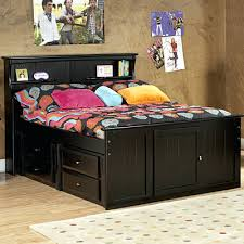 Bookcase Headboard Queen Bookcase Solana Queen Platform Bed With Bookcase Headboard