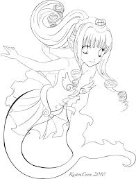 anime mermaid cartoon coloring pages throughout mermaid coloring