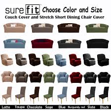 sure fit reclining sofa slipcover recliner pillow ebay