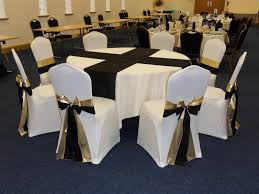 black chair covers formal chair covers sashes in black and gold on white chair