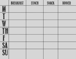 printable blank meal planner gallery blank menu planner template printable chart templates 08
