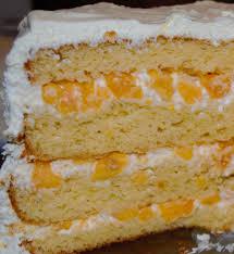 and cream layer cake