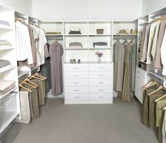 beautiful walk in dressing room design with white shelves cabinet