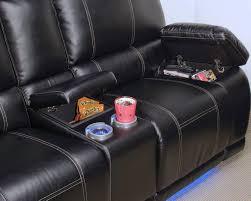 Loveseat Black Leather Dylan Power Reclining Loveseat Black Big U0027s Furniture Store Las