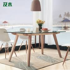 furniture glass wood dining table and wood rectangular glass