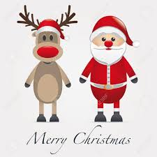 rudolph reindeer red nose santa claus stock photo picture