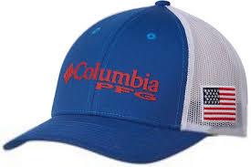Usa Flag Hats Columbia Pfg Usa Flag Mesh Snap Back Ball Cap Tackledirect