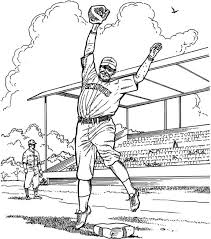 baseball game coloring pages pitcher baseball coloring