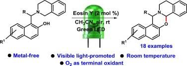 Visible Light Examples Visible Light Promoted Metal Free Intramolecular Cross