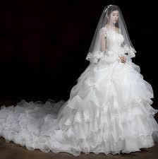 wedding dress korean womens new sleeveless korean shoulder tailing princess