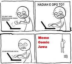 Meme Comic Jawa - hadiah e opo to meme comic
