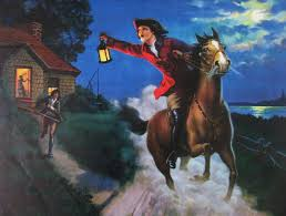 this picture represents paul revere a patriot messenger who did