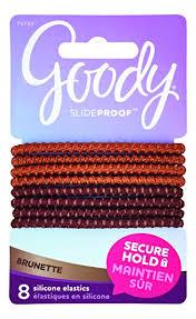 goody hair ties goody slideproof silicone hair tie elastics