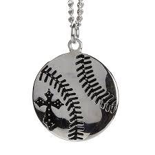 baseball jewelry men s stainless steel baseball necklace sos 20375 men s