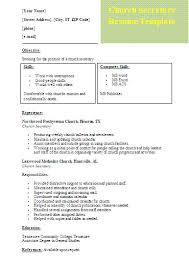 Sample Ministry Resume by Church Secretary Resume Template Formsword Word Templates