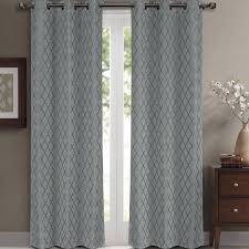Jacquard Curtain Amazon Com Willow Jacquard Gray Grommet Blackout Window Curtain