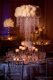 chandelier centerpieces centerpiece idea with white hydrangeas and chandelier