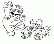maryo pictures color print mario brothers coloring