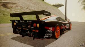 gulf racing truck mclaren f1 gtr 1998 gulf team for gta san andreas