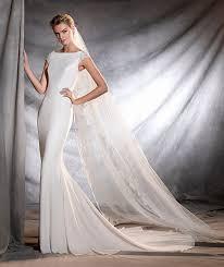 robe de mariã e pronovias olbia wedding dress in tulle crepe and lace my big day