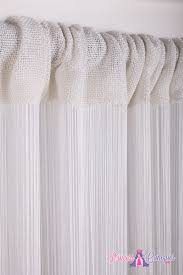 white string curtain 7 feet long fire retardant string curtains