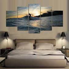 chambre surf mur photo pour la décoration intérieure cadre 5 panneau surf
