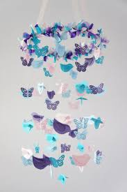 Decor Baby by Nursery Mobile Blue Pink Purple Birds U0026 Butterflies Nursery