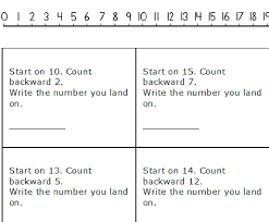 kindergarten number lines number line subtraction worksheets