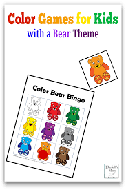 color games for kids with a bear theme png