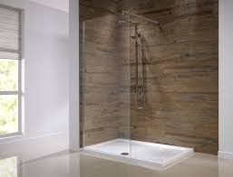 Shower Partitions A Large Frameless Glass Shower Enclosure With Wetroom Floor And
