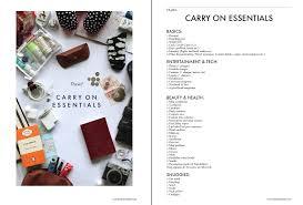 home essentials list the stylish atelier carry on essentials free checklist