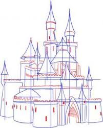 how to draw a medieval castle step 3 schkize pinterest