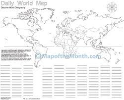 Blank Continents Map by Daily World Blank Map Maps For The Classroom
