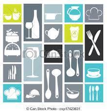 kitchen icon kitchen icons over white background vector illustration vectors