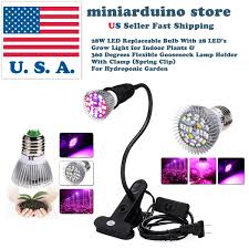 Grow Lights For Indoor Plants Canada by 28w Led Grow Light E27 For Indoor Plants And 360 Degrees Flexible