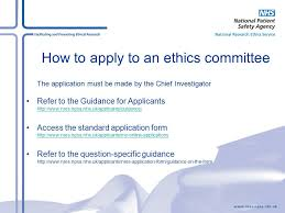 applying to a research ethics committee ppt download