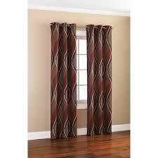 mainstays wave print casual curtain panel walmart com